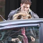 Kellan Lutz and his really bad hair with the McCord girl in Vancouver  83571