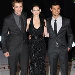 Kristen Stewart, Robert Pattinson, and Taylor Lautner at The Twilight Saga: Breaking Dawn, Pt. 1 Premiere in London 98536
