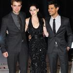 Kristen Stewart, Robert Pattinson, and Taylor Lautner at The Twilight Saga: Breaking Dawn, Pt. 1 Premiere in London 98538