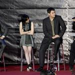 Kristen Stewart, Robert Pattinson, Taylor Lautner in Madrid for a fan event to promote New Moon  50512