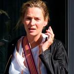 Uma Thurman leaves a massage appointment  112202
