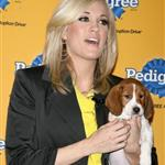 Carrie Underwood and a beagle puppy at the 6th Annual Pedigree Adoption Drive  57849