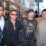 Bono and The Edge with Colin Farrell at the Ondine premiere 47137