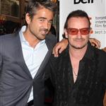 Bono and The Edge with Colin Farrell at the Ondine premiere 47139