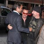 Bono and The Edge with Colin Farrell at the Ondine premiere 47140