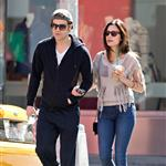 Paul Wesley and wife Torrey DeVitto taking an early morning stroll through the SoHo neighborhood of NYC 111809