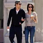Paul Wesley and wife Torrey DeVitto taking an early morning stroll through the SoHo neighborhood of NYC 111812