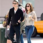 Paul Wesley and wife Torrey DeVitto taking an early morning stroll through the SoHo neighborhood of NYC 111813