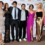 Selena Gomez, Rachel Korine, James Franco, Vanessa Hudgens and Ashley Benson attend the Spring Breakers premiere at TIFF 2012 126151