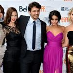 Selena Gomez, Rachel Korine, James Franco, Vanessa Hudgens and Ashley Benson attend the Spring Breakers premiere at TIFF 2012 126153