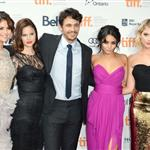 Selena Gomez, Rachel Korine, James Franco, Vanessa Hudgens and Ashley Benson attend the Spring Breakers premiere at TIFF 2012 126159
