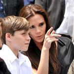Victoria Beckham with son Brooklyn Beckham as Simon Fuller receives a star on the Hollywood Walk of Fame 86998