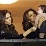 Victoria Beckham and Harper Seven with Eva Longoria at LA Galaxy game  97729