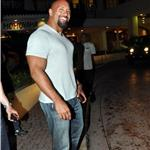 Dwayne The Rock Johnson in San Juan for Fast Five 65099