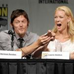 Norman Reedus and Laurie Holden at Comic-Con for Season 3 of The Walking Dead 120760