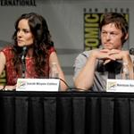 Norman Reedus and Sarah Wayne Callies at Comic-Con for Season 3 of The Walking Dead 120768