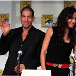 Sarah Wayne Callies, Jon Bernthal at The Walking Dead panel Comic-Con 90592