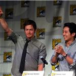 Norman Reedus, Steven Yeun at The Walking Dead panel at Comic-Con  90594