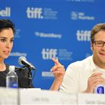 Sarah Silverman and Seth Rogen at the Take This Waltz Press Conference.  Photos from Alberto E. Rodriguez/Gettyimages.com 93917