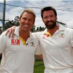 Gross Shane Warne with Hugh Jackman 75861