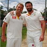 Gross Shane Warne with Hugh Jackman 75862