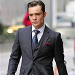 Ed Westwick shooting Gossip Girl in New York 76559