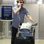 Ed Westwick arrives at LAX 60401