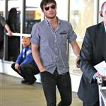 Ed Westwick arrives at LAX 60406