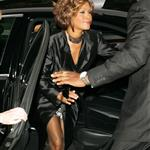 Whitney Houston in London in advance of new album comeback supported by Clive Davis 42964