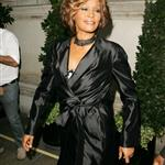 Whitney Houston in London in advance of new album comeback supported by Clive Davis 42962