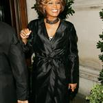 Whitney Houston in London in advance of new album comeback supported by Clive Davis 42958