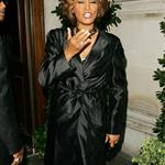 Whitney Houston in London in advance of new album comeback supported by Clive Davis 42957