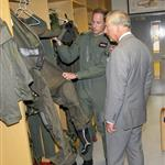 Prince Charles visits RAF Valley on Anglesey to see Prince William on his Air Force Base and view his Sea King rescue helicopter 120023