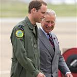 Prince Charles visits RAF Valley on Anglesey to see Prince William on his Air Force Base and view his Sea King rescue helicopter 120034