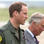 Prince Charles visits RAF Valley on Anglesey to see Prince William on his Air Force Base and view his Sea King rescue helicopter 120035