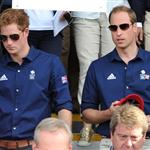 Catherine and Prince William watch the Eventing Cross Country Equestrian event on Day 3 of the London 2012 Olympic Games with Prince Harry, Princess Beatrice, Princess Eugenie and Camilla 121951