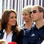 Catherine and Prince William watch the Eventing Cross Country Equestrian event on Day 3 of the London 2012 Olympic Games with Prince Harry, Princess Beatrice, Princess Eugenie and Camilla 121953