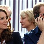 Catherine and Prince William watch the Eventing Cross Country Equestrian event on Day 3 of the London 2012 Olympic Games with Prince Harry, Princess Beatrice, Princess Eugenie and Camilla 121956
