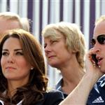 Catherine and Prince William watch the Eventing Cross Country Equestrian event on Day 3 of the London 2012 Olympic Games with Prince Harry, Princess Beatrice, Princess Eugenie and Camilla 121957