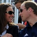 Catherine and Prince William watch the Eventing Cross Country Equestrian event on Day 3 of the London 2012 Olympic Games with Prince Harry, Princess Beatrice, Princess Eugenie and Camilla 121970