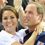 Catherine, Duchess of Cambridge, Prince William and Prince Harry during Day 6 of the London 2012 Olympic Games at Velodrome 122306