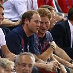Catherine, Duchess of Cambridge, Prince William and Prince Harry during Day 6 of the London 2012 Olympic Games at Velodrome 122323