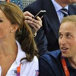 Catherine, Duchess of Cambridge, Prince William and Prince Harry during Day 6 of the London 2012 Olympic Games at Velodrome 122327