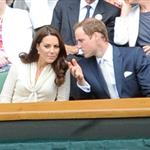 Catherine, Duchess of Cambridge and Prince William in the Royal Box on Centre Court at Wimbledon 2012: Day Nine 119677