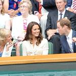 Catherine, Duchess of Cambridge and Prince William in the Royal Box on Centre Court at Wimbledon 2012: Day Nine 119679