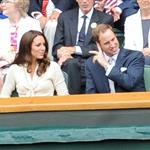 Catherine, Duchess of Cambridge and Prince William in the Royal Box on Centre Court at Wimbledon 2012: Day Nine 119680