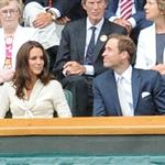 Catherine, Duchess of Cambridge and Prince William in the Royal Box on Centre Court at Wimbledon 2012: Day Nine 119681