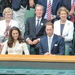Catherine, Duchess of Cambridge and Prince William in the Royal Box on Centre Court at Wimbledon 2012: Day Nine 119682