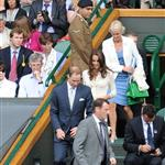 Catherine, Duchess of Cambridge and Prince William in the Royal Box on Centre Court at Wimbledon 2012: Day Nine 119684