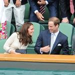 Catherine, Duchess of Cambridge and Prince William in the Royal Box on Centre Court at Wimbledon 2012: Day Nine 119685